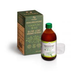 MYVITALY® VERDEPURO BIO - Extracto orgánico de hojas de olivo líquido - 20% Oleuropeína